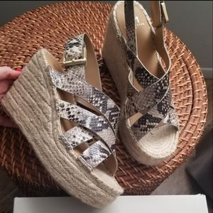 Marc Fisher Leather espadrilles